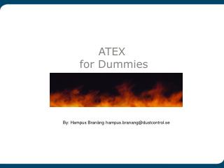 ATEX  for Dummies