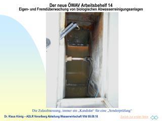 Dr. Klaus König – ADLR Vorarlberg Abteilung Wasserwirtschaft VIId 08.09.10
