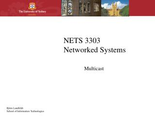 NETS 3303 Networked Systems