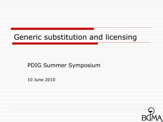 Generic substitution and licensing