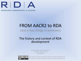 FROM AACR2 to RDA