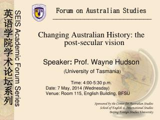 Forum on Australian Studies
