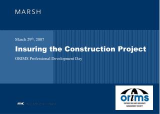 Insuring the Construction Project