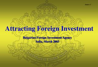 Attracting Foreign Investment