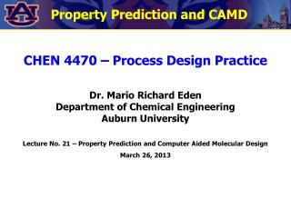 Property Prediction and CAMD