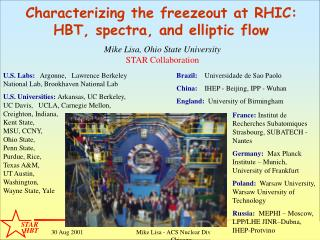 Characterizing the freezeout at RHIC: HBT, spectra, and elliptic flow