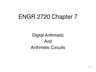 ENGR 2720 Chapter 7