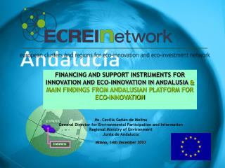 FINANCING AND SUPPORT INSTRUMENTS FOR INNOVATION AND ECO-INNOVATION IN ANDALUSIA  &