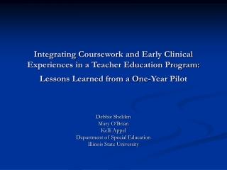 Co-Teaching Pilot