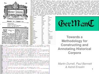 Towards a Methodology for Constructing and Annotating Historical Corpora