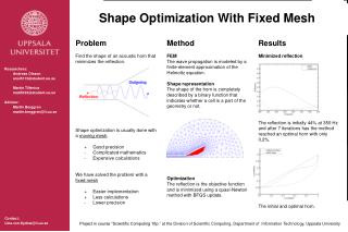 Shape Optimization With Fixed Mesh