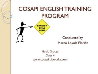 COSAPI ENGLISH TRAINING PROGRAM