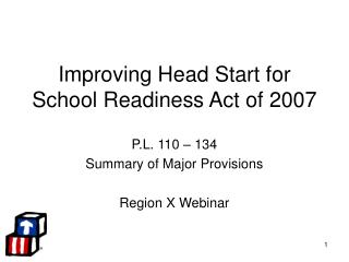 Improving Head Start for School Readiness Act of 2007