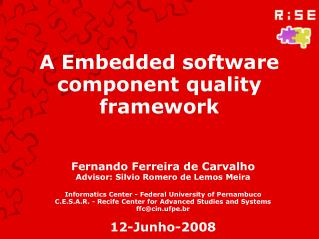 A Embedded software component quality framework