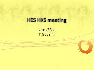 HES HKS meeting