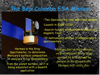 The Bepi Colombo ESA Mission