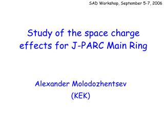 Study of the space charge effects for J-PARC Main Ring