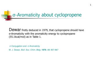 σ-Aromaticity  about cyclopropene