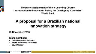 A proposal for a Brazilian national innovation strategy