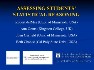 ASSESSING STUDENTS' STATISTICAL REASONING