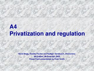 A4 Privatization and regulation