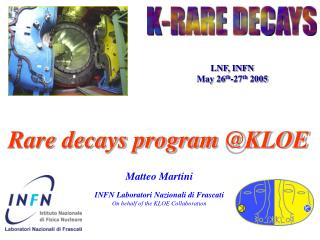 Rare decays program @KLOE