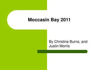 Moccasin Bay 2011