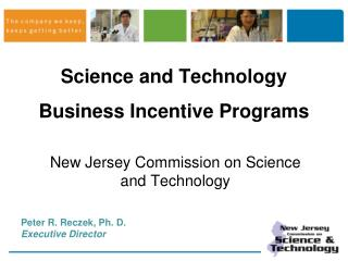 Science and Technology Business Incentive Programs