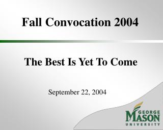 Fall Convocation 2004