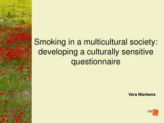 Smoking in a multicultural society:  developing a culturally sensitive questionnaire
