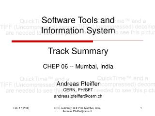 Software Tools and Information System Track Summary
