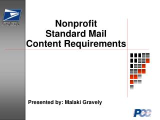 Nonprofit  Standard Mail  Content Requirements