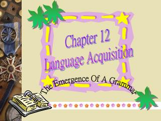 Chapter 12   Language Acquisition