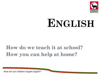 How do we teach it at school? How you can help at home?