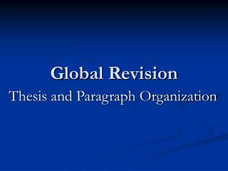 Global Revision