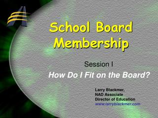 School Board  Membership