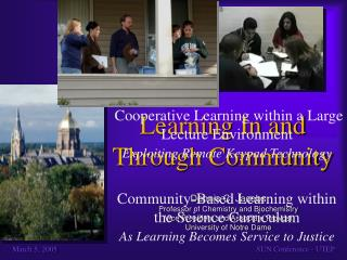 Learning In and Through Community