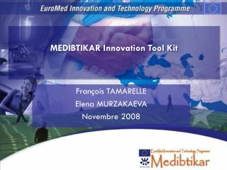MEDIBTIKAR Innovation Tool Kit