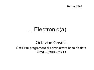 ... Electronic(a)