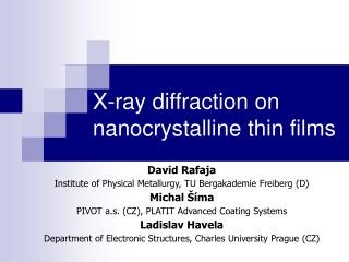 X-ray diffraction on nanocrystalline thin films