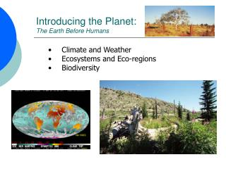 Introducing the Planet: The Earth Before Humans