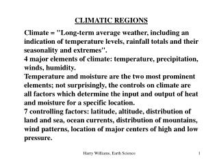 CLIMATIC REGIONS