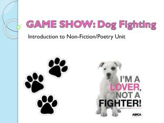GAME SHOW: Dog Fighting