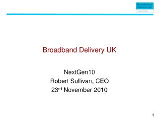 Broadband Delivery UK