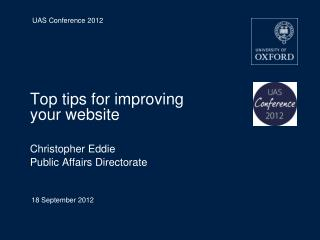 Top tips for improving your website