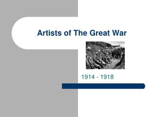 Artists of The Great War