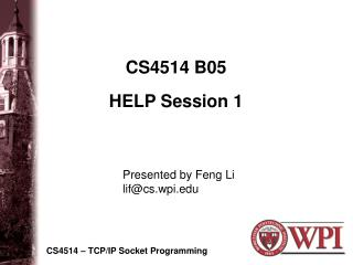 CS4514 B05 HELP Session 1
