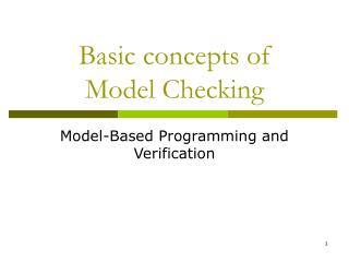 Basic concepts of Model Checking