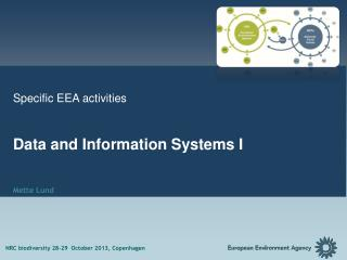 Specific EEA activities  Data and Information  Systems I Mette Lund