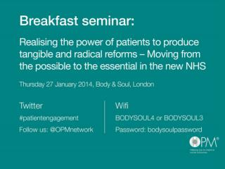 Realising the power of patients to produce tangible and radical reforms